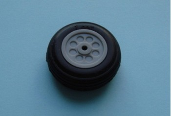 1'' Rubber Wheel (Pair)